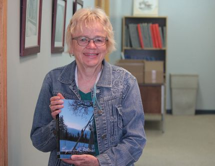 Local author Patricia Verge with her brand new FriesenPress book, Equals and Partners.