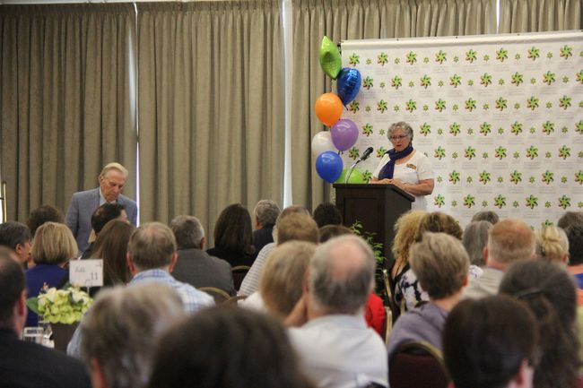 Debra Swan, from the Local Community Food Centre, was one of the guest speakers to talk to donors about the impact their support to the Stratford Perth Community Foundation has had in the community. JONATHAN JUHA/THE BEACON HERALD/POSTMEDIA NETWORK