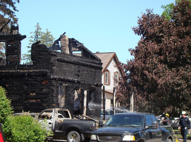 Three people are unaccounted for from a home that was destroyed by fire in Chesley early Monday, police say