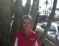 Lynn Bell in Arizona for a shuffleboard competition. (Submitted | Lynn Bell)