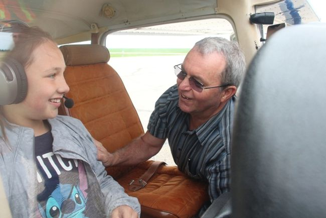 86 young people took flights with four area pilots on Saturday, June 9 through the COPA for Kids program at the Melfort airport.