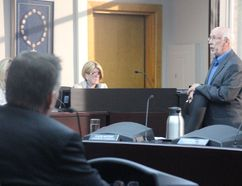 <p>Coun. Mark MacDonald, right, watches from his seat as Coun. Claude McIntosh moves council hire an invetigator to immediately look into whether MacDonald broke council's code of conduct in April; on Monday June 11, 2018 in Cornwall, Ont.</p><p> Alan S. Hale/Cornwall Standard-Freeholder/Postmedia Network