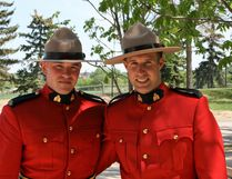 Thomas Harris and Ryan Baillie graduated from the RCMP Academy in Regina on May 28.