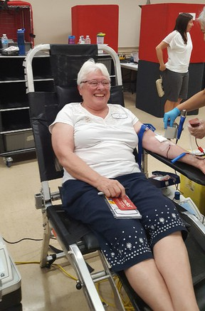 Marilyn Garrett, 71, has been donating blood since she was 18 years old. (Supplied photo)