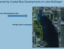 Crystal Blue Developments wants to build a 116-lot bareland condominium subdivision by the northwest shore of McGregor Lake. Crystal Blue Developments graphic