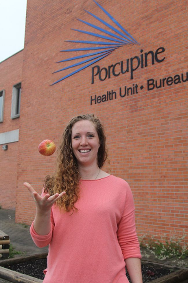 Victoria Hall, public health dietitian, says the Porcupine Health Unit has launched a campaign to make poverty reduction a priority in hopes of assisting those who can't afford to eat healthy.