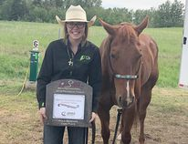 J.C. Charyk's Abby Grantham took home third in the pole bending event for the Alberta High School Rodeo Provincial Finals, earning her a spot at Nationals in July.