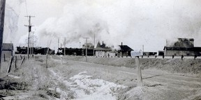 Fargo Station, Harwich Township, photo faces north to the junction of the New York Central and the Pere Marquette. John Rhodes photo