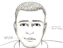 Hanna RCMP have released a composite sketch of the suspected Freson Bros slasher who attacked an employee on June 10 leaving wounds to their face and neck.