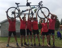 Josephburg resident, Eddie Jossy, who has lived with Parkinson's since 2011, rode across the finish line on June 9 after biking more than 800 kilometres with his friends and family members.