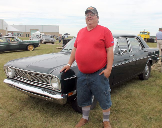Wetaskiwin car enthusiast Doug Frechette brought his beloved 1968 Ford Falcon Futura to this year's History Road: The Ultimate Car Show. (Christina Max/Wetaskiwin Times)