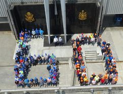 <p>Handout/Cornwall Standard-Freeholder/Postmedia Network</p><p> OPG and New York Power Authority employees celebrate the Moses-Saunders Power Dam's 60th anniversary on June 1, 2018
