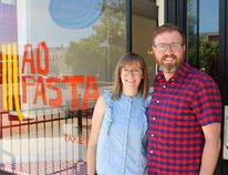 Kris Schlotzhauer and wife Suzy, seen here on Thursday, June 14, 2018 in Stratford, Ont., have opened a new restaurant called AO Pasta. Terry Bridge/Stratford Beacon Herald/Postmedia Network