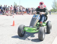 KASSIDY CHRISTENSEN HIGH RIVER TIMES/POSTMEDIA NETWORK. A go kart race and barbecue event was held May 25 at École Secondaire Highwood High School, and was hosted as part of the school's Mental Health Awareness week in support of mental health. Students and staff competed in elimination races throughout the week with the top three teams, Divas, Team 4 Square and Big Bean, competing in the race finals on May 25.