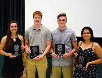 Among athletes honoured at St. John's College's annual athletic awards banquet are Kaitlyn Overeem (left)), Thomas Coon, Ryan Speight and Delaney Garlow. (Submitted Photo)