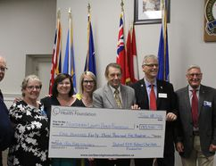 The Northern Lights Health Foundation gets a $143,500 donation from the Rotary District 5370 to be put toward infant care. Laura Beamish/Fort McMurray Today/Postmedia Network