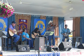 The Peace Country Band was playing Saturday afternoon, one of several bands performing at the Lions Old Time Music Festival this past weekend.
