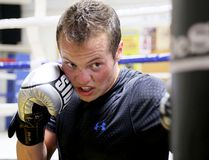 Noah Tetrault works out at the Kent Athletic Youth Organization boxing club in Chatham, Ont., on Monday, June 18, 2018. (MARK MALONE/Chatham Daily News/Postmedia Network)