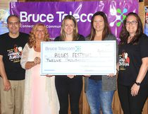 The Bruce Telecom Lighthouse Blues Festival is just a month away on July 13-15, 2017 and organizers recognized the sponsors whose support helps make the event happen during a Sponsor Appreciation Night at the Bruce Steakhouse on June 14, 2018. Pictured: Staff from Title Sponsor Bruce Telecom were celebrated for their eight years of support. (Troy Patterson/Kincardine News and Lucknow Sentinel)