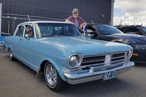 Gord and Melanie Charters, from St. Albert, drove to the Fort for the annual Shelby Canada West car show and charity barbecue in support of the food bank on June 17. A wide range of classic and modern cars were on display.