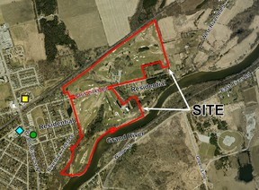 A housing development is planned for the former Paris Grand Golf and Country Club. (County of Brant)