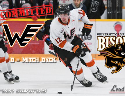 Mitch Dyck of the Winkler Flyers has signed with the University of Manitoba Bisons in U Sports men's hockey. (Supplied photo)