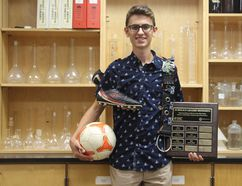 Grade 12 North Park Collegiate student Markus Kunej has been awarded a $100,000 Schulich Leader Scholarship for his studies at the University of Toronto. He also recently won a James Hillier Foundation Scholarship, worth up to $20,000 over four years. (Submitted Photo)