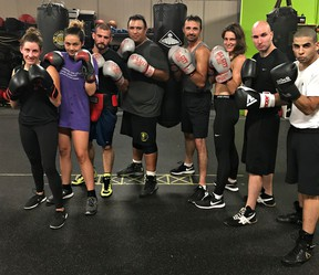 Brantford Bell City Boxing Club members Jaime Cogger (left), Kaleigh Hill, Andrew Sztricsko, Brody Williams, Skylar Williams, Jennifer Williams, Devon Renwick and Jordan Wisdom will be in action on July 6 when the club hosts its Friday Night Fights Under the Lights card at the Knights of Columbus. (Submitted Photo)