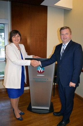 Current Woodstock Hospital President and CEO Natasa Veljovic is set to retire on Dec. 31. Current COO Perry Lang will assume the role on Jan. 1, 2019. (Submitted)