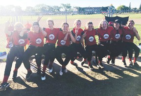 The U14 Leduc Jets girls softball team will be competing at provincials this coming weekend in Provost. (Submitted)