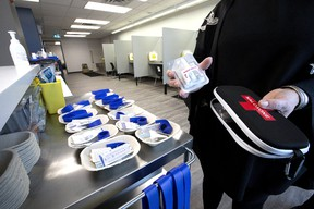 """Naloxone kits provide """"short-term relief"""" from an opioid overdose, according to the Sherwood Park Primary Care Network, which distributes the life-saving packs to local doctors offices.  Stan Behal/Postmedia Network"""