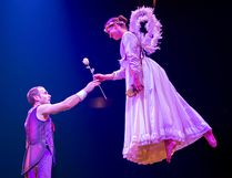 Montreal-based acrobat Marie Christine Menard-Bergeron is on the right in this photo from the 2018 Cirque du Soleil touring production of Corteo. (Supplied Photo