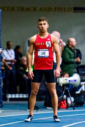 Turkey Point's Tommy Land recently finished his university career by winning the men's 600m and 1000m races at the Canadian championships. Contributed Photo