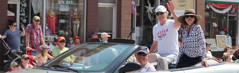 Lucknow Reunion 2018 saw hot temperatures June 29-July 2, 2018 and the event that only happens every 10 years was another big success for the town. A long list of events for everyone for four days straight made for an entertaining weekend in Huron Kinloss. The Mammoth Parade on Saturday June 30, 2018 was an important one that featured the oldest residences Catherine Andrew and Warren Wylds, the oldest family owned business since 1931 McDonagh Insurance, and Paul Henderson made his way through downtown Lucknow. Pictured: The man who scored Canada's famous hockey goal Paul Henderson and his wife Eleanor during the Mammoth Parade on Saturday June 30, 2018 at the Lucknow Reunion 2018. (Ryan Berry/ Kincardine News and Lucknow Sentinel)