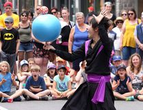 Busker Ace-K from Japan performs on Princess Street during the second day of the Kingston Buskers Rendezvous on July 7, 2017. Ian MacAlpine /The Whig-Standard file photo