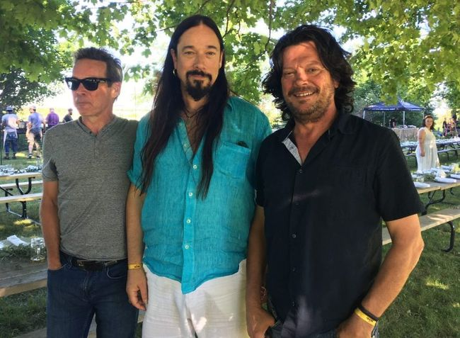 The Tragically Hip band members Gord Sinclair, Rob Baker and Paul Langlois in Creemore, Ont. Jane Stevenson/Toronto Sun.