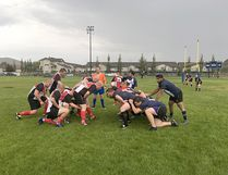 The Badlands Bulldogs & Red Deer Titans 3rd Division Rugby team hosted the final Drumheller home game of the regular season at DVSS field on Saturday night, under ominous skies,with the Bulldogs winning 22-5.