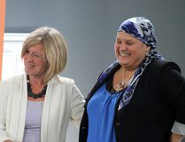 Premier Rachel Notley and MLA Erin Babcock were in Acheson this past week to fundraise for Babcock's re-election campaign.