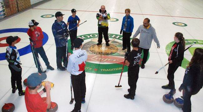 There are 60 young high-performance athletes at the North Ontario Curling Association's Amethyst Jr. Curling Camp at the Granite Club this week. It's one of three events bringing curlers to North Bay over 10 days. Dave Dale / The Nugget