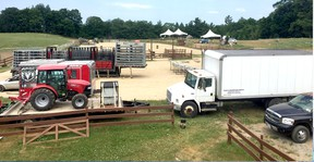Preparations were underway Thursday at the Von Doeler's Ranch in Rutherglen for this weekend's rodeo. Submitted Photo