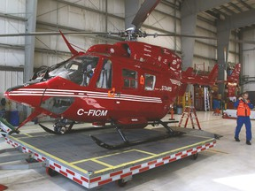 A current STARS Air Ambulance helicopter.