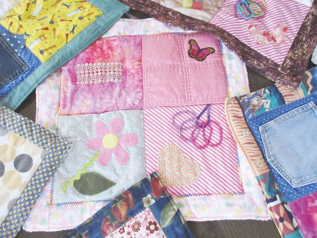 Carmen Grayson, along with her six sisters, mom and brother make quilts for a variety of organizations. They've recently started making fidget quilts (pictured) as something to fiddle with rather than wringing your hands. (Submitted)
