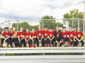 The Leduc Jets U14 girls' softball team returned home from provincials, finishing sixth out of 12 teams who competed at the tournament in Provost, Alberta. (Submitted)