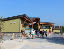Parks Canada held a re-opening ceremony on Canada Day, with about 200 in attendance, to showcase Bruce Peninsula National Park's Singing Sands day-use area's new $3.5 million visitor facilities just south of Tobermory. Photo by Zoe Kessler/Wiarton Echo