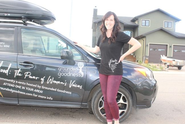Amanda Perrot of Grounded Goodness is taking free Sisterhood events on the road this summer as a way to engage with other women.