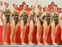 Brantford's Claire Scheffel (left) is a member of the Waterloo Regional Synchro Club. (Submitted Photo)