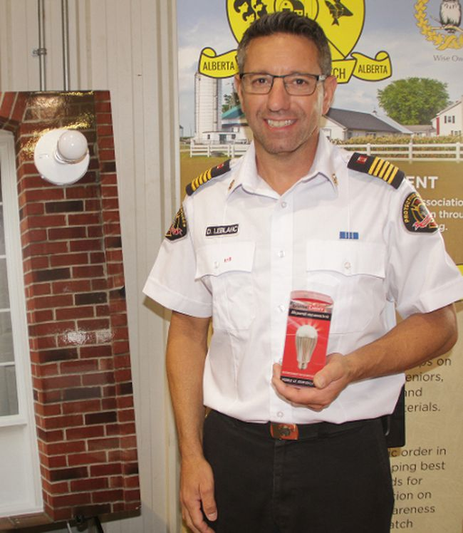 David LeBlanc, director of protective services, Northern Sunrise County, said GuideLights are an extremely way to show first responders the location where an emergency call originated because a red light installed on the exterior of a residence flashes red when a remote-controlled button is pushed; a siren sounds as well.