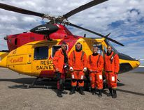 The crew of Arviat (left to right): Sgt. Steph Richard, Sgt. Chris Samson, Capt. Eileen Sudul and Maj. Alexia Hannam.