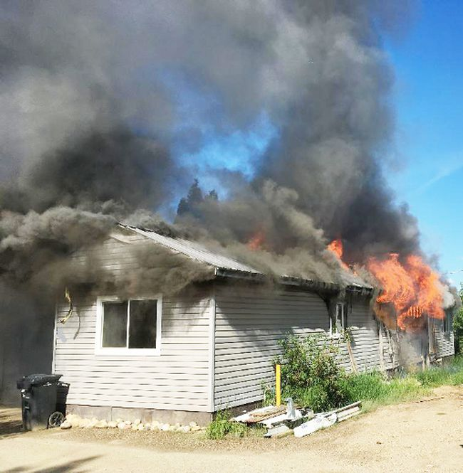 A home in Terrace Trailer Park is beyond repair following a fire July 4