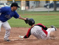 A Shakespeare Falcons player during last years ISC Canada East qualifier attempts to steal second. The annual Cephas Roth tournament will take place this weekend in Tavistock. Greg Colgan/Woodstock Sentinel-Review/Postmedia Network